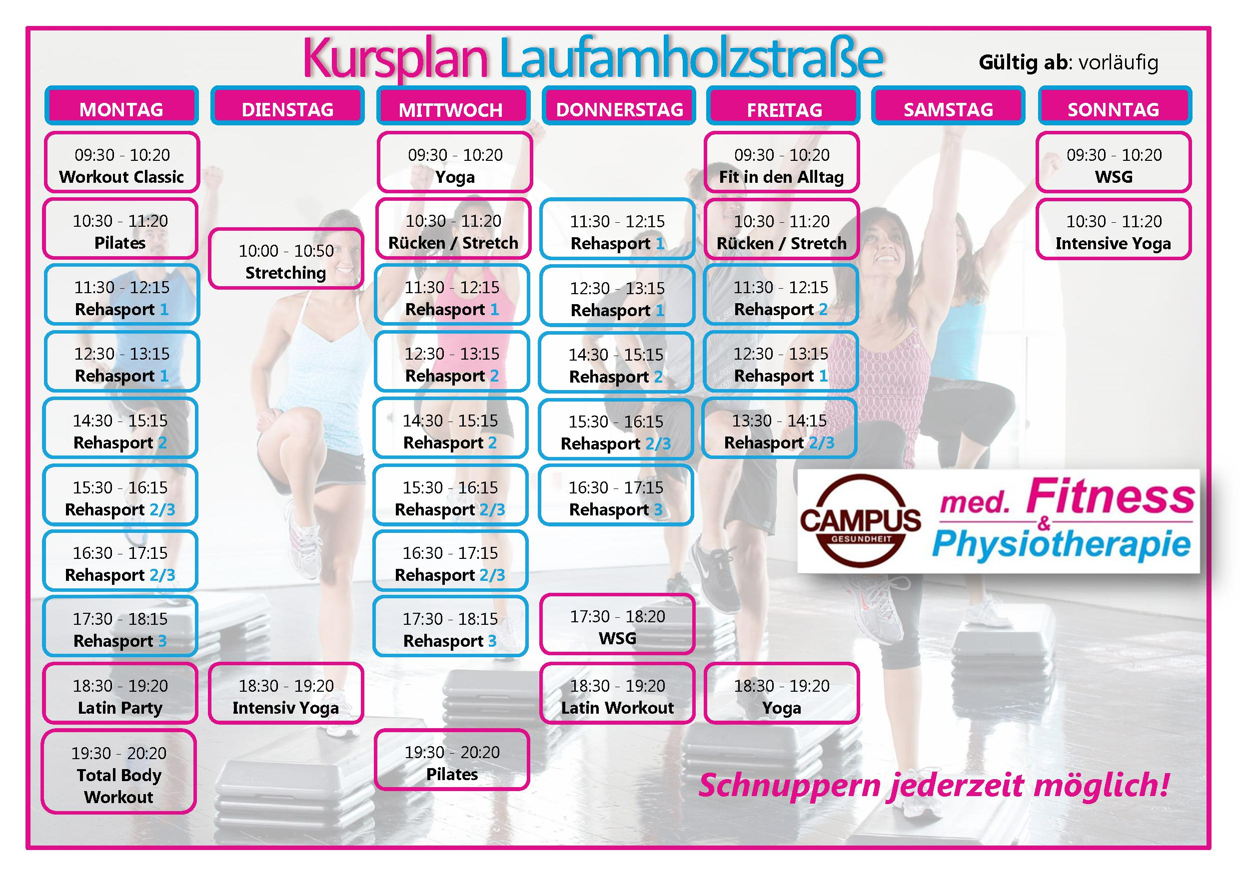 Campus Fitness Kurse Und Sauna Ab 7 50 Pro Woche Campus Gesundheit
